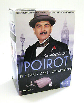 POIROT - THE EARLY CASES COLLECTION; 18-Disc DVD Box Set; Agatha Christie; Acorn