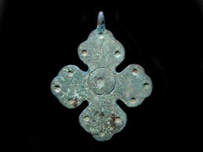 EXTREMELY RARE COMPACT BYZANTINE Bronze CROSS+++TOP CONDITION+++