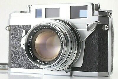[ MINT+3 ] Konica IIIA 3a Rangefinder Film Camera Hexanon 50mm f/1.8 from JAPAN