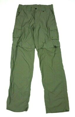 Boy Scouts of America Mens Switchback Convertible Green Cargo Pants Shorts Small