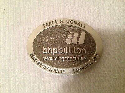 BHP Billiton Tracks & Signals Belt Buckle