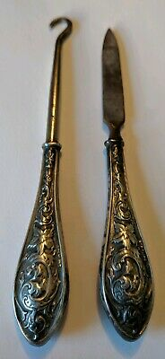 Antique Sterling Button Hook & Nail File