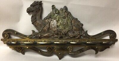 Antique Cast Iron Victorian Camel Wall Pipe Holder Bar Pool Cue Rack Judd Mfg Co