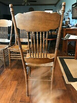 Larkin oak antique chairs -6