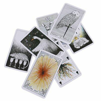 78Pcs The Wild Unknown Tarot Deck Rider-Waite Oracle Set Fortune Telling Card EA