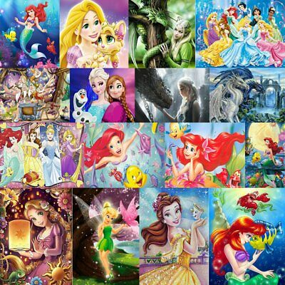 Disney Characters Full Drill 5D Diamond Painting Embroidery Cross Craft Art S4