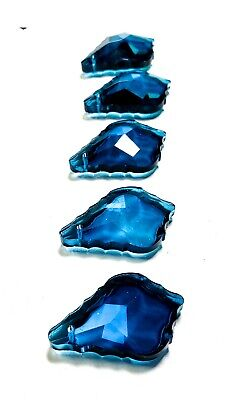 5 Zircon Blue French Cut 38mm Chandelier Crystals Jewelry Supplies