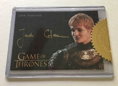 Jack Gleeson Gold Autograph as Joffrey Baratheon Game of Thrones, Case Incentive