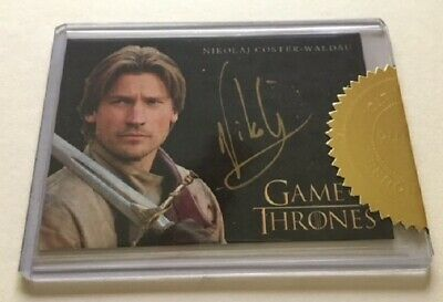 Nikolaj Coster-Waldau Gold Autograph as Jamie Lannister Game of Throne Season 3