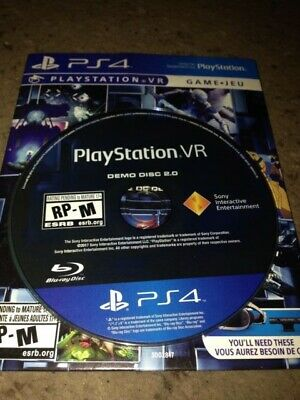 PLAYSTATION VR DEMO Disc English PS4 BRAND NEW (VR AND