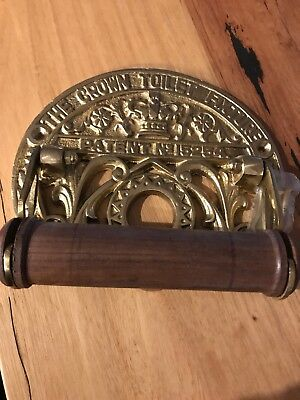 Toilet roll holder CROWN solid brass heavy fixture