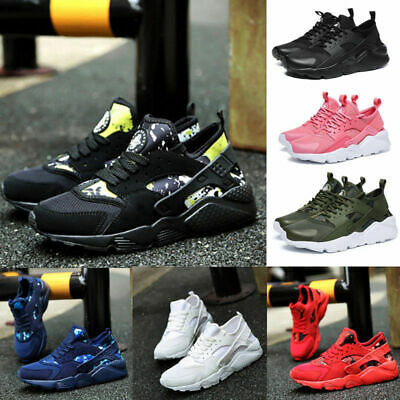 Uk Mens Womens Pumps Trainers Lace Up Mesh Sport Running Casual Shoes Breathable