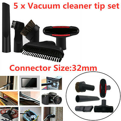 5 in1 Vacuum Cleaner 32mm Brush Nozzle Home Dusting Crevice Stair Tool Kit HS905