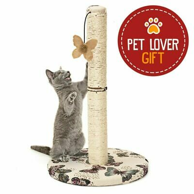 Animals Favorite Grattoir pour Chats avec Jouet Papillon Suspendu, Arbre à Chat