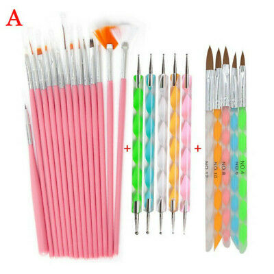 Nail Art Thin Painting Brush Liner Dotting Pen Drawing Brush Manicure French Tip