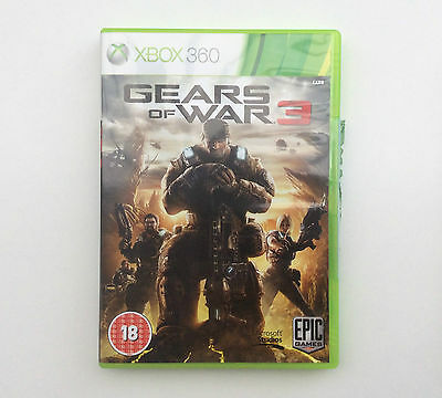 GEARS OF WAR 3 MICROSOFT XBOX 360 (PAL) Excellent Condition - Free p&p