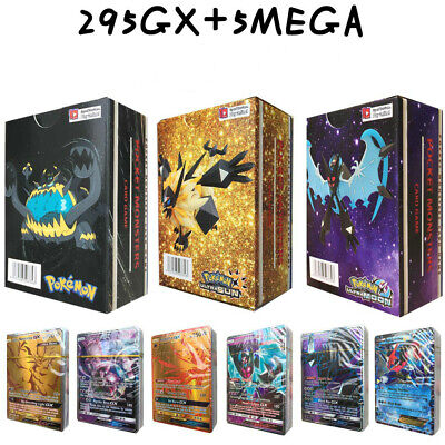 300 carte Pokemon 295GX+5Mega Inglese Flash Cards Originale Regalo Nuovo