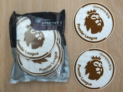 2 Sporting ID Leicester City Premier League Champions 15/16 Shirt Sleeve Patches