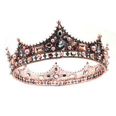 Vintage Bridal Veil Tiara Diamante Rhinestone Crown Wedding Party Prom Headband