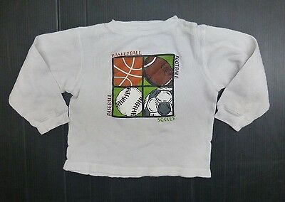 Gymboree Shirt Boys Size 5 White Long Sleeved Thermal Shirt Good Condition