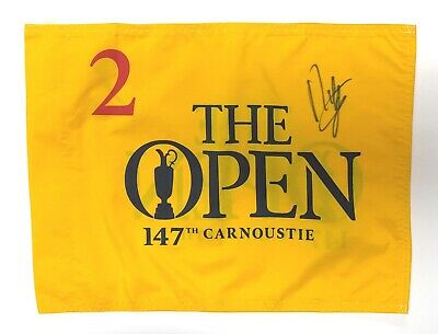 Francesco MOLINARI Signed Carnoustie 2018 Open Golf Course Used Flag 2 AFTAL COA