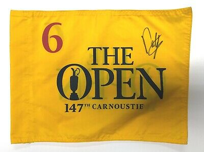 Francesco MOLINARI Signed Carnoustie 2018 Open Golf Course Used Flag 6 AFTAL COA
