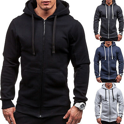 Mens Hooded Hoodie Hoody Winter Sweater Zip Jacket Coat Sweatshirt Outwear Tops