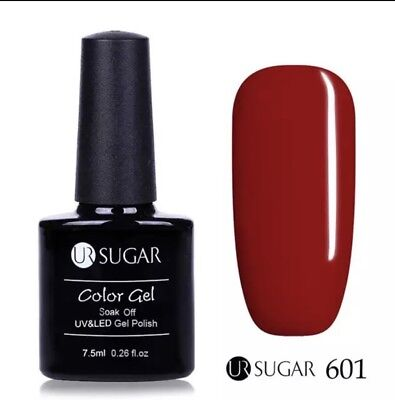 Esmalte Permanente UR SUGAR GEL POLISH SOAK OFF Oferta Color Rojo  7,5ml