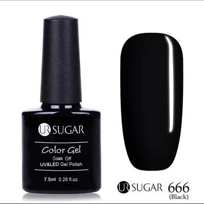 Esmalte Permanente UR SUGAR GEL POLISH SOAK OFF Oferta Color  Negro 7,5ml