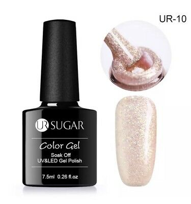 Esmalte Permanente UR SUGAR GEL POLISH SOAK OFF Purpurina Rosa Nude  7,5ml