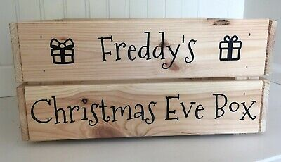 Personalised Christmas Eve Box Vinyl Decal Sticker (only) Bundle - DIY Xmas Gift