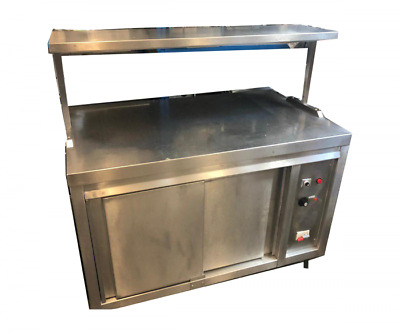 Hot Cupbord with gantry  120 cm wide x 75 cm deep/ Stainless steel hot cupboa...