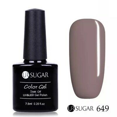 Esmalte Permanente UR SUGAR GEL POLISH SOAK OFF Oferta Color Morado 7,5ml