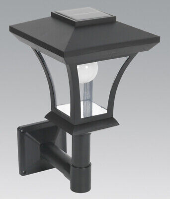 Sealey GL61 Solar Powered LED Garden Lamp Wall Mounting
