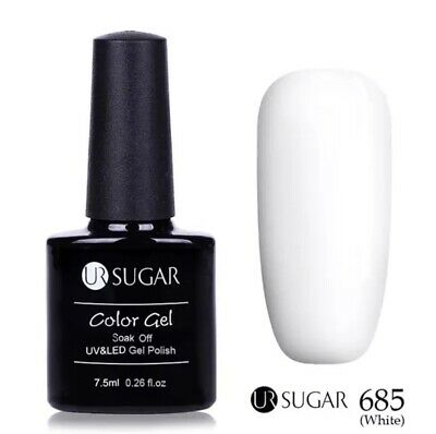 Esmalte Permanente UR SUGAR GEL POLISH SOAK OFF Oferta Color  Blanco 7,5ml
