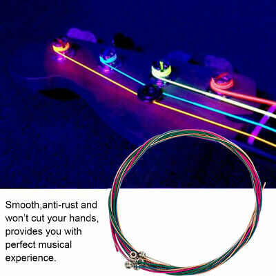 Set of 6 Replacement Steel Electric Bass Guitar String Strings