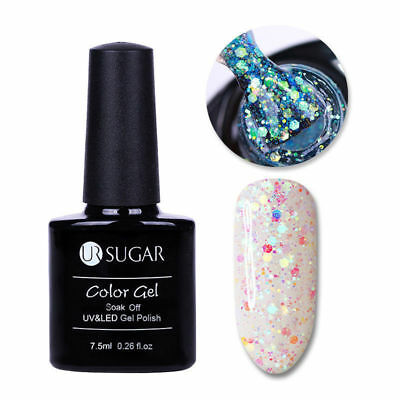Esmalte Permanente UR SUGAR GEL POLISH SOAK OFF Purpurina Multicolor 7,5ml