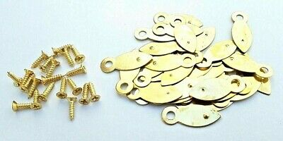 Picture Frame Turn Buttons 19mm Brassed With Screws x 10 or 100 Artist Crafting