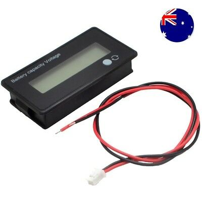 AU 12V LCD Acid Lead Lithium Battery Capacity Indicator Voltmeter Voltage Tester