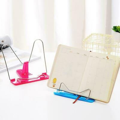 Adjustable Angle Metal Book Stand Foldable Portable Document Book Reading N R1M3