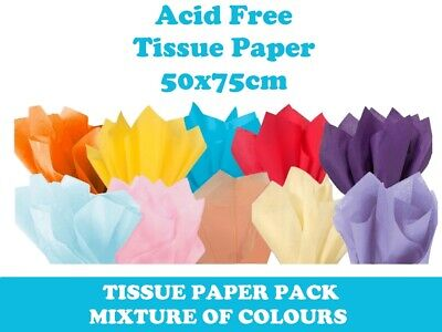 Luxury Tissue Paper Acid Free Sheets 50cm x 75cm Present Gift Wrapping Flowers