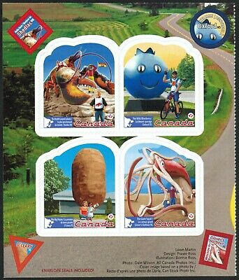 Canada Sc#2485a-d Roadside Attractions - 3, Left / Right Pane of Booklet Mint-NH