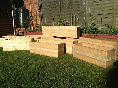 2 x Hand Made, tanalised Wooden Garden Planter, Window Box, Large Trough 4ft