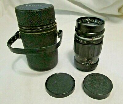 Tele-Lentar 1:3.5 f=135mm  Screw Mount Type Lens No H91109 With Case And Cover