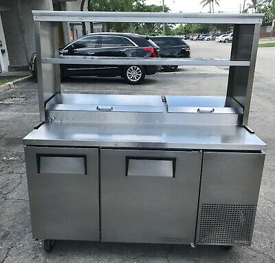 True TPP-60  Pizza Prep Table (USED) - Refrigerated Pizza Prep Table