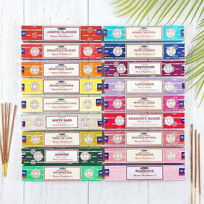 🌈 Satya Sai Baba Agarbatti Nag Champa Incense Sticks Joss 15g pack Mix & Match