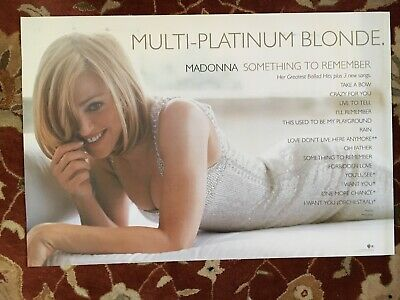 MADONNA  Something To Remember  rare original promotional poster from 1995