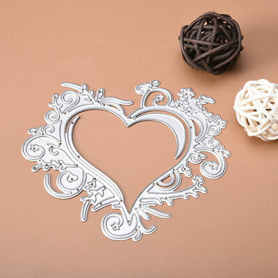 Lace Heart Metal Cutting Dies Stencil For Scrapbooking Card Paper Embossing W7I8