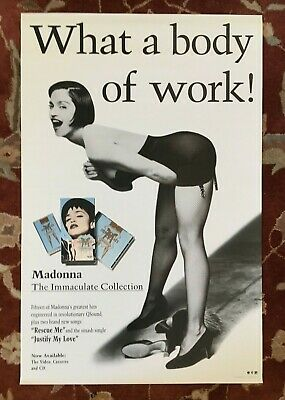 MADONNA  The Immaculate Collection  rare original promotional poster from 1990