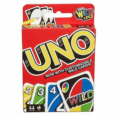 Mattel Uno Card Game With Customizable Wild Cards NEW